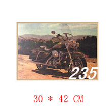 NO.235,Harley Davidson Motorcycle/Famous design view/kraft paper/Wall stickers/Retro Bar Poster/decorative painting30x42cm(China)