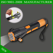[Seven Neon]water proof emergency torch+hammer in car/9 in 1/alarm for emergence/AM/FM/belt cutter/bright camping light tourch(China)