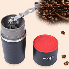 ALOCS CW-K16 Outdoor Tableware Portable Coffee Maker 4 in 1 Stainless Steel Camping Manual Easy Coffee Grinder Camping Tableware(China)