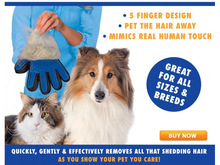 Hot sale dog cleaning accessory Massage Glove True Touch Deshedding Gentle Efficient Pet Grooming Dogs Cats Bath