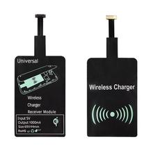 Android Universal Qi Standard Wireless Charging Receiver Micro USB Wireless Charger Receiving Patch Coil for All Android Mobile(Hong Kong)