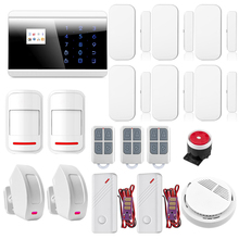 Wireless Keypad Quad4 Band Android IOS APP Touch Screen Panel GSM PSTN SMS Home Security Alarm System Curtain PIR Sensor