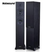 Nobsound NS-60F Wood 1 Pair 150W Floor-Standing Speakers 2.0 HiFi Column Sound 6.5 inch speaker Home Professional speakers(China)