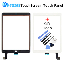 New Touch Screen Digitizer Front Touch Panel Glass Lens for iPad Air 2 / 6 TouchScreen Replacement Spare Parts TP + Repair Tools