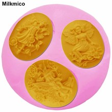 Milkmico F1186 FDA New Fondant Cake Tools Silicone Mold Chocolate Sugar Art Tools Flower Fairy DIY Cake Decorating Milkmico