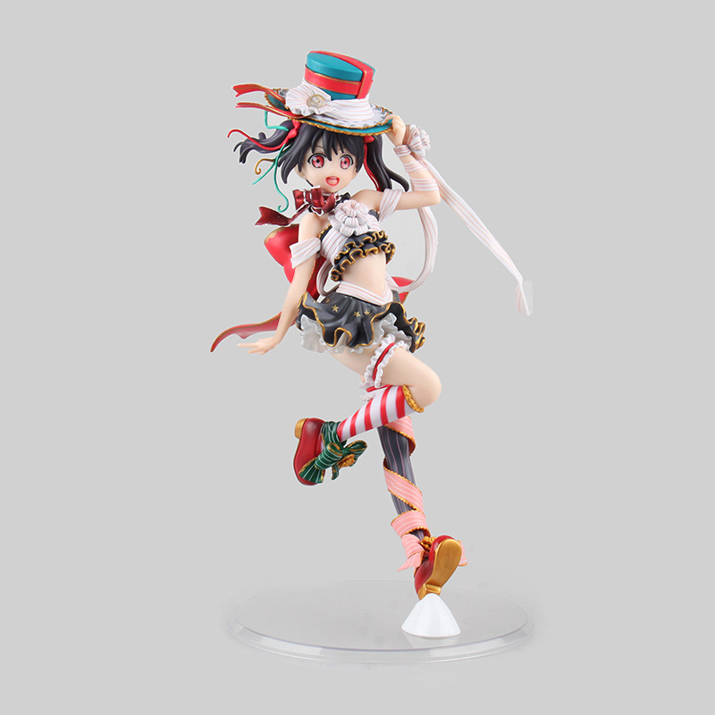 Anime Figure 25CM Love Live! School Idol Festival Yazawa Nico 1/7 Scale PVC Action Figure Collectible Model Toy Christmas Gift<br>