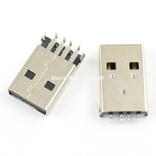 20 Pcs Per Lot USB Type-A 4 Pin Male Panel Mount DIP Connector DIY(China)