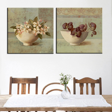Home Decoration Canvas Painting Frameless Canvas Print Art Modular Poster Still Life Charm Flower Picture for Room Wall 2 Panel(China)
