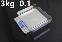3000g 0.1g Electronic Platform Scale LCD Display Mini  Digital Jewelry 3kg  Weighing Scale Weight   Scales Balance