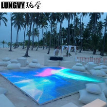 Free Shipping 10pcs/lot 15*15 Pixel LED Video Dance Floor RGB 3IN1 Panel Waterproof LED Dance Floor For Wedding Disco Party(China)