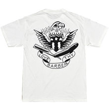 Hot Selling 100 % Cotton Men's Tip Top Industries Love Thy Barber T-shirt White Tattoo Eagle Flash