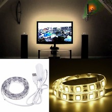 50cm Epoxy Led Strip SMD 3528 USB Powered String Light Christmas Holiday Lamp Indoor Lighting Spotlight For Home TV Background(China)