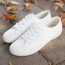 2017 Fashion Women Canvas Shoes Low Breathable Women Solid Color Flat Shoes Casual White Leisure Cloth Shoes Size 36-40(China)