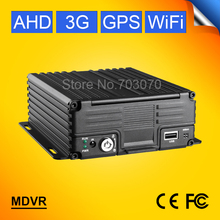 3G GPS WIFI 4CH HDD HARD DISK MOBILE VIDEO RECORDER 720P AHD H.264 BUS TRUCK REAL TIME MONITORING CAR MDVR I/O G-SENSOR CMSV6