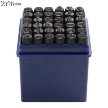 Kiwarm Practical 36pcs 6mm Steel Punch Alphabet Letter Number Stamp Tool Steel Metal Leather Craft For Home Handmade DIY Tools(China)