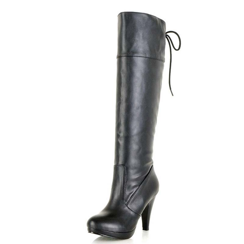 AirfourNew 13 Cm Women Boots Ultra High Heels Soft Thin Heel Sexy Party Women Snow Winter Boots Fashion Over The Knee High Boots<br>