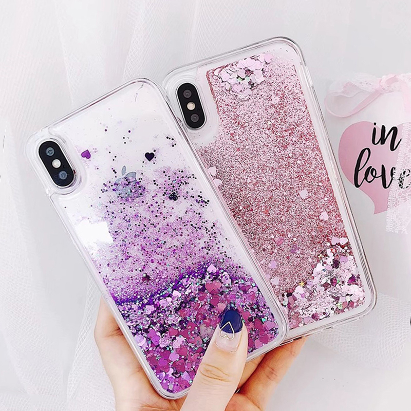 Soft Glitter Dynamic Liquid Quicksand Case for iPhone X Cases 5S SE 6S Plus for iPhone 7 Cover 8 Plus Silicon Case For iPhone 8 (4)