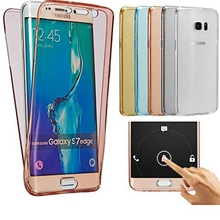 Full 360 Case For Samsung Galaxy S7 / S7 Edge Transparent Ultra Thin TPU Cover For Galaxy S6 Edge S8 Plus Crystal Silicone Funda