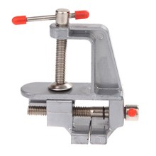 "New 3.5"" Aluminum Miniature Small Jewelers Hobby Clamp On Table Bench Vise Tool Vice High Quality Portable Profession Tool"