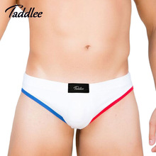 Buy Taddlee Brand 3pcs Mens Sexy Underwear Cotton Brief Basic Colors Men's Bikini Mini Low Waist Briefs Gay Penis Pouch WJ Pad Lot