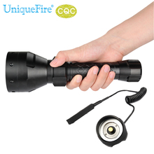 UniqueFire Flashlight UF-1405 IR 850NM  67mm Lens Infrared Light Night Vision Torche + Rat Tail Perfect For Hunting