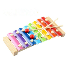 Baby Toy Piano Baby Hand Knock Percussion Musical Xylophone 8 Note Small Musical Instruments Toys Best Gift for Kids