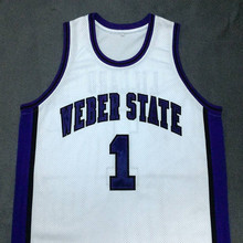 DAMIAN LILLARD Weber State White College Jersey Embroidery Stitched Customize any size and name(China)