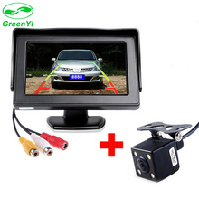 "GreenYi 2In1 Car Parking System Kit 4.3"" TFT LCD Color Rearview Display Monitor + Waterproof Reversing Backup Rear View Camera"