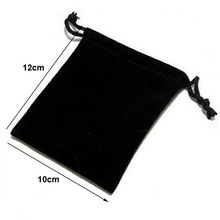 Wholesale 10x12cm Drawstring Black/Blue/Red/Wine Red Velvet Bags Pouches Jewelry Bags Wedding Decoration Gift Bags 100pcs/lot