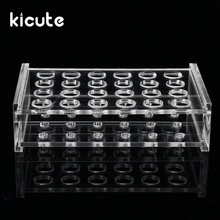 Kicute Excellent 24 Holes 1.5ml Clear Plastic Centrifugal Test Tube Test Tubing Rack Holder 11mm Dia School Supply Lab Equipment(China)
