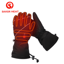 Fingers and Back of Hand Heating 7.4V 2200MAH Electric Heat Gloves,Waterproof Outdoor Ski Sport Lithium Battery Self Heating(China)