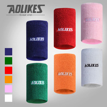 AOLIKES 1PCS Sport Wristband Cotton Sweat Band Wrist Support Protector Wrist Guards Tennis Basketball Gym Wrist Wraps Bracer