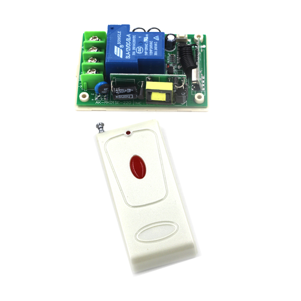220V Wide voltage, 85V-250V 1CH wireless remote control switch with 1-button remote controller self-locking SKU: 5538<br><br>Aliexpress