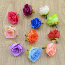 artificial flowers Fake flowers simulation flowers small silk cloth roses tea bags diy handmade wedding ball decoration