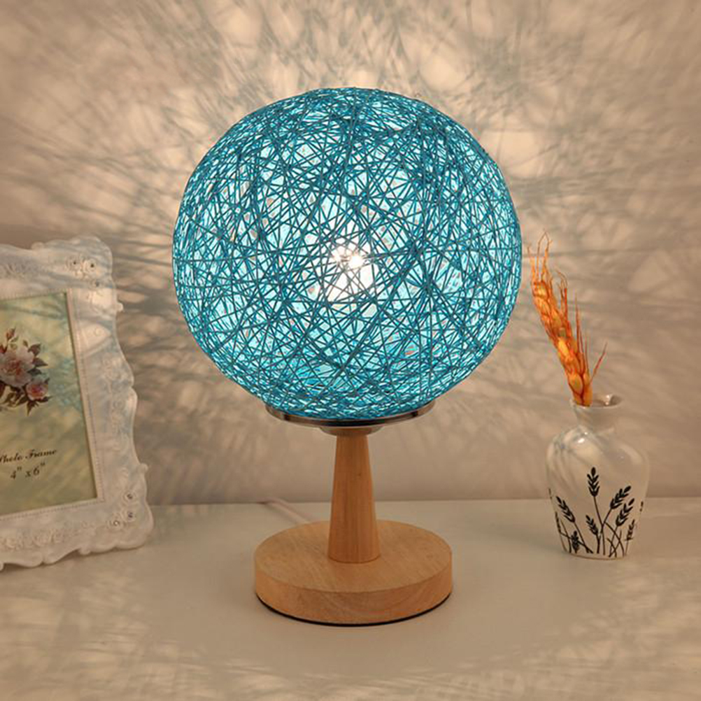 Twine Sepak Takraw Lamps Bedroom Bedside Lamps Decorative Lamps Night Lights With US Plug <br><br>Aliexpress