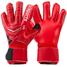 Nouveau Enfants Hommes gardien de but de football gants 3mm épaissir pleine latex 3mm Mousse professionnel gardien de but de football gants 5 doigt sauver garde(China)