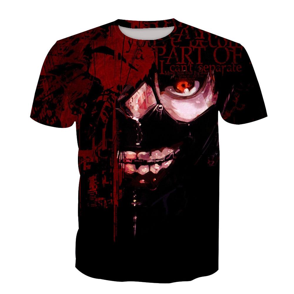 Tokyo Ghoul Ken Kaneki Cosplay T shirt 3D Print T-shirts Men Women Short Sleeve Summer Tees Tops For Halloween Party Luxtees (2)