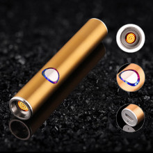 Buy Mini Metal USB Lighter Rechargeable Electronic Lighter Thin Cigarette Turbo Lighter Encendedor Cigar Palsma Pulse Man Lighter for $7.33 in AliExpress store