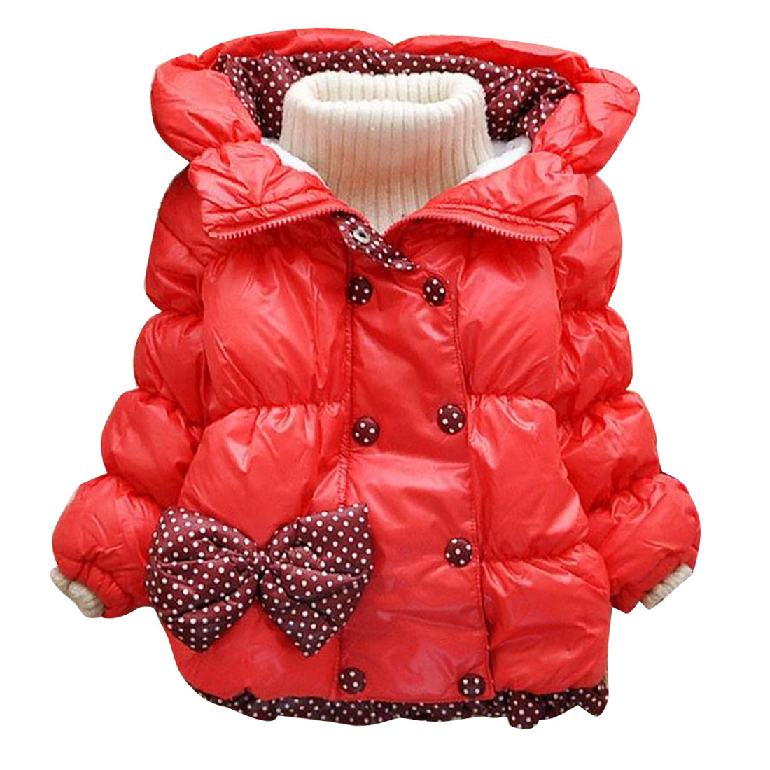 2017 New Fashion Baby Girls Winter Coat Jacket Down Children Parka Outwear Warm Cute Bowknot Princess Kids Outwear Coat ClothesОдежда и ак�е��уары<br><br><br>Aliexpress