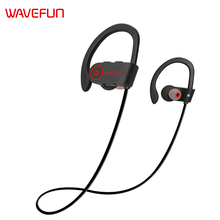 Wavefun X-Buds super bass bluetooth headphones wireless headphones bluetooth earphone IPX7 waterproof for sports phone with mic(China)