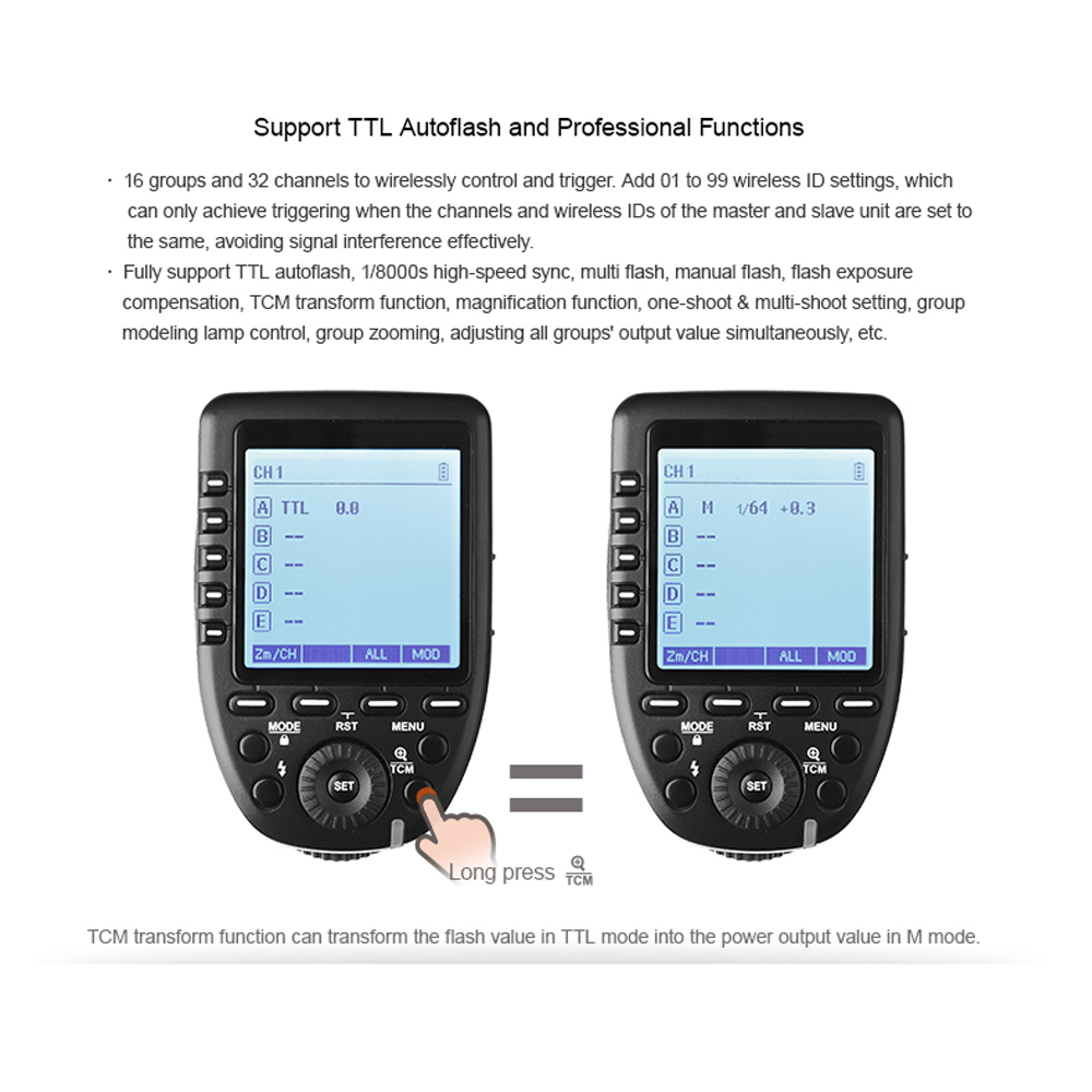 Pre-Sale New Arrival Godox TTL II 2.4G Wireless X system High-speed with Big LCD Screen Transmitter Xpro-F For Fuji (47)