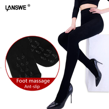 Buy LANSWE high quality 12000D thickening women winter warm Tights sexy lady foot massage anti-slip Brand Pantyhose langsha