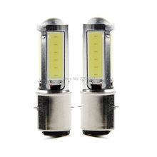 High Quality White H6 COB LED Motor Bike/Moped/ATV Headlight Headlamp Bulb Fog Light DRL BA20D(China)