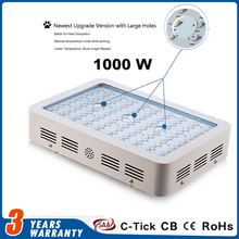 1000W LED Grow Light Full Spectrum for Flowering Plant and Hydroponics For Outdoor Garden or Indoor Balcony Grow Box