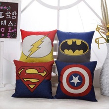 Cartoon cushion US captain Super Batmanflash cushions decorative throw pillows chair cushion cojines decorativos almofada emoji