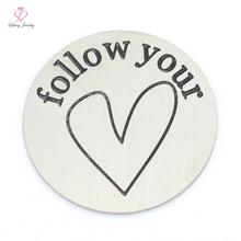 Fashion Best Friends,Love Life,I Love You To The Moon&Back,Follow Your Heart,My Family Tree plate for 30mm Living lockets