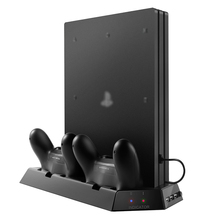 PS4 Accessories Play Station4 Pro Video Game Console Vertical Stand Cooler Pad Joystick PS4 Charging Stand for PlayStation 4 Pro(China)