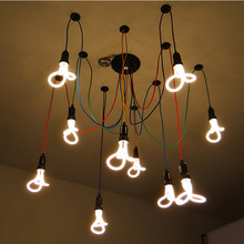 Modern Pendant Lights Energy Saving Bulbs Spider Pendant Lamps 6/8/10/12 Arms Colorful Fabric Core DIY Home Decoration Lighting
