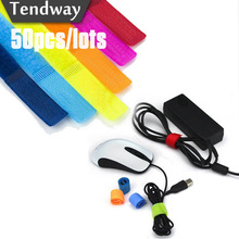 50pcs/10pcs Colored Cable Winder Wire Organizer Cable Earphone Holder Cord Management Protetor de cabo for iPhone Samsung Huawei(China)