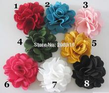 FZ0001 Decorative Fabric Flower 40pcs 2inch Flatback Party/clothes accessories(China)
